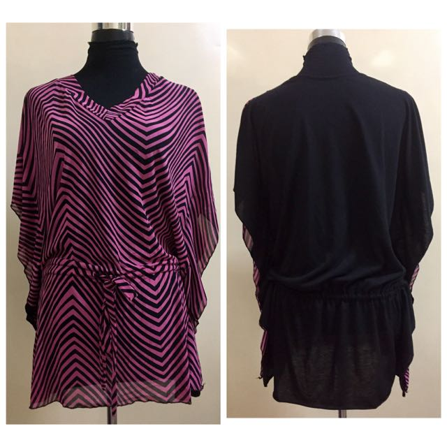 Pink/black Dress Free Size