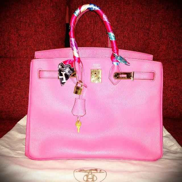 SALE!! SALE!! SALE!! Preloved HERMES Pink Fuschia 35cm