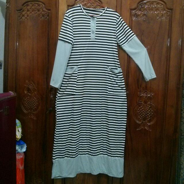 Long Stripes Dress #midnightsale