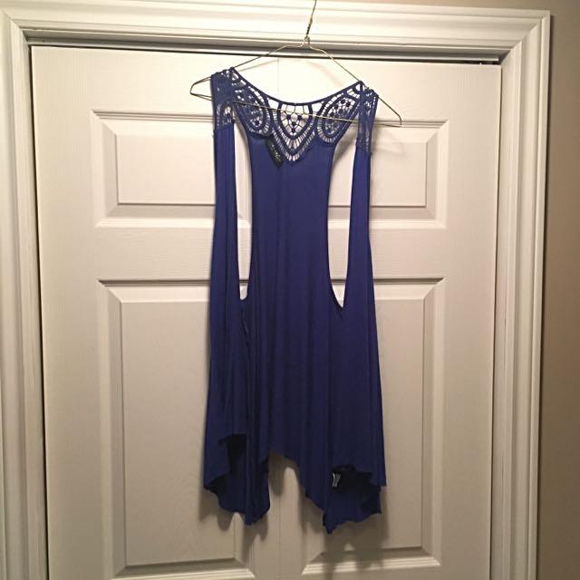 Sleeveless Blue Cardigan