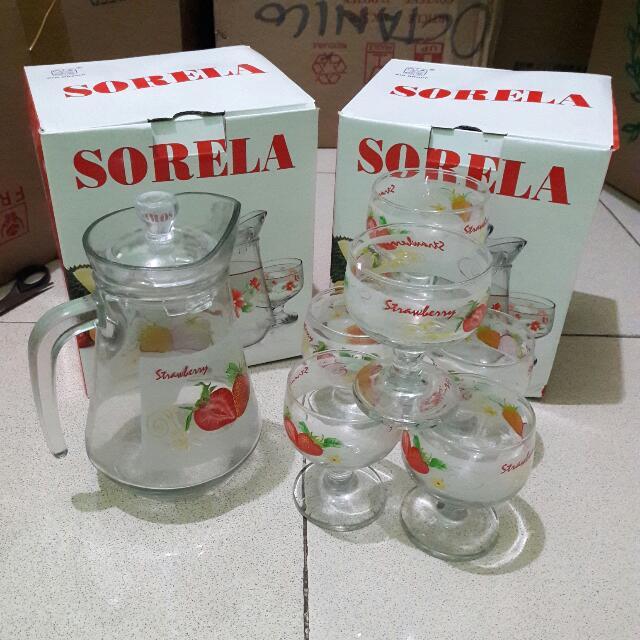 Sorela Pitcher 6 Glass