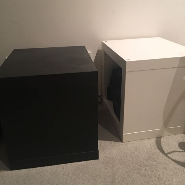 Two Side Table Black And White