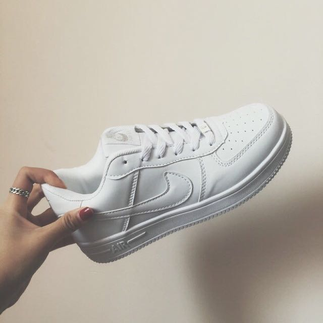 separation shoes 6e902 bb8c2 Unisex Nike Airforce 1 Low cut Full White Sneakers Shoes, Women s ...
