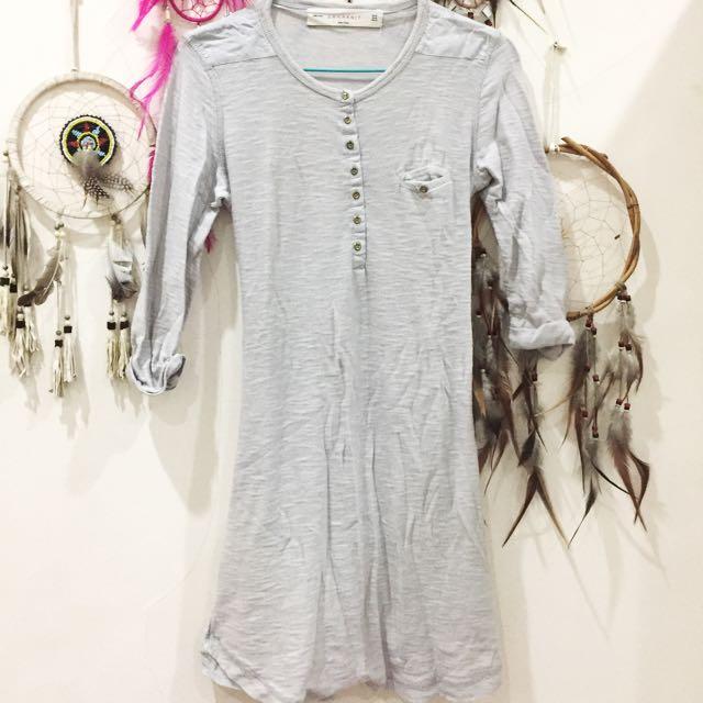 Zara Knit T-shirt Midi Dress