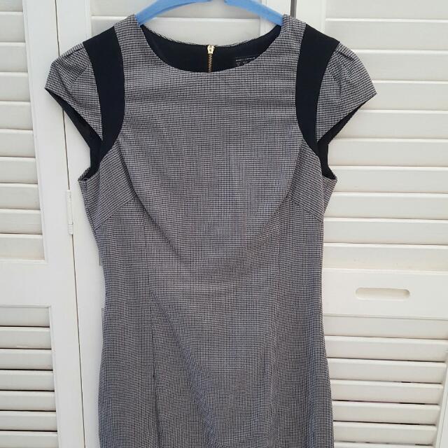 Zara XS Work Dress Houndtooth