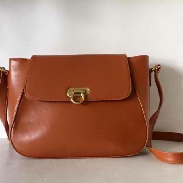Marikina Made — ZIA Sling Bag — Dark Tan