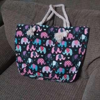 Elephant Design - Canvas Tote Bag
