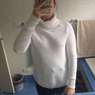 White Turtleneck Knit
