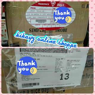 PROOF OF SHIPPING GOING TO BOHOL and diff. areas within metro THANK YOU FOR TRUSTING KIKAYZ ONLINE SHOPPE!!