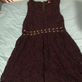 Black Lace Forever 21 Dress Size L