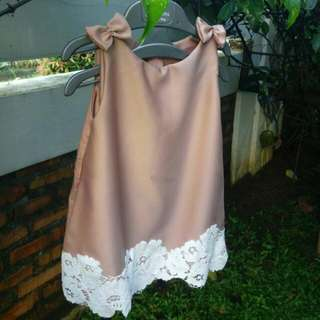 Dress Bayi Dusty Pink