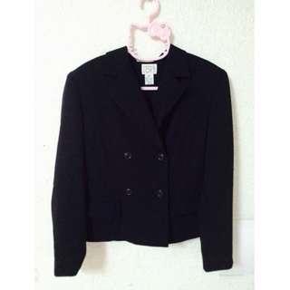 排釦西裝黑色外套