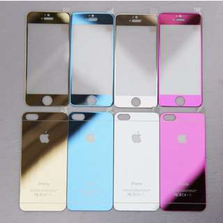 7fbdf96bf06 IPHONE 4 4S 5 5S 6 6S PLUS FULL MIRROR TEMPERED GLASS SCREEN PROTECTOR