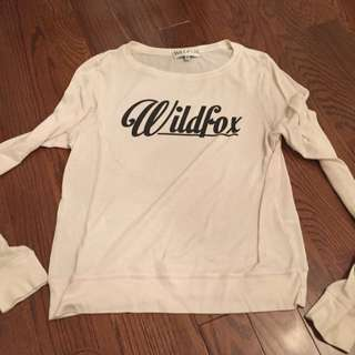 White Wildfox long sleeve
