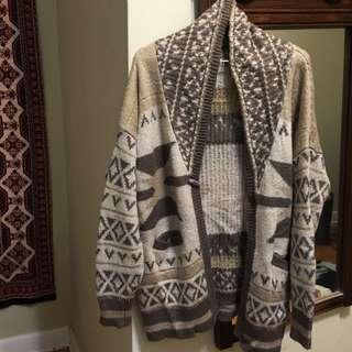 Aztec Oversized Knit Sweater
