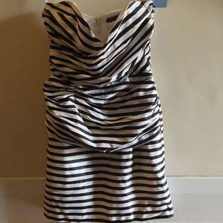 Out With Evie Stripe Dress Size 8
