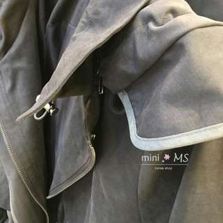 正韓長外套~賣的是軍綠色!