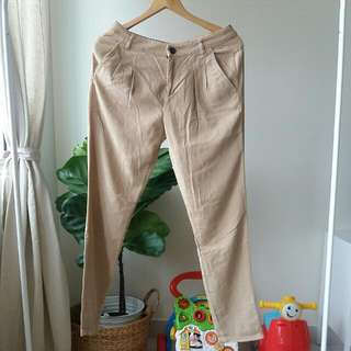 Zara Corduroy Tapered Pants Size S