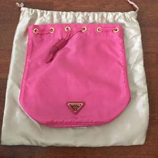 Prada Authentic Wrist pouch In 2 Shades Pink