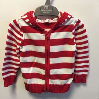 Fox Hoodie Knitted Jacket (Size 12-18 Mth)
