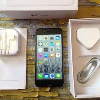 iPhone 6 64GB Space Gray, Mulus Terawat, Fu & Fullset
