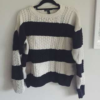 Mango Striped Knitted Sweater