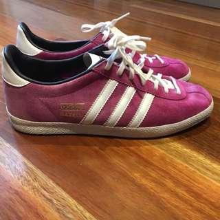 Purple Adidas Sneakers