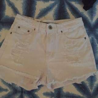 White Refuge Denim Shorts