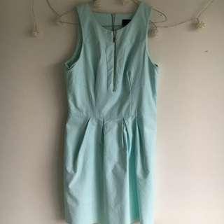 Light Blue Zip Dress