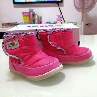 IFME 日本品牌 童鞋 女童雪鞋 靴子 寶寶運動機能鞋