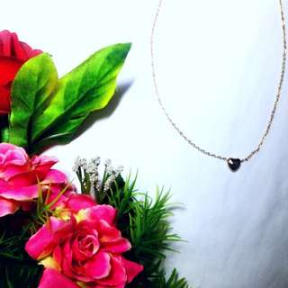 Gold plated dainty heart necklace