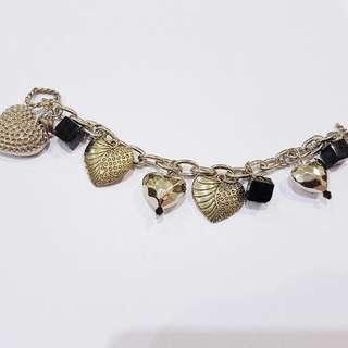 Design Market Handmade Charm Bracelet 'Heart To Heart'