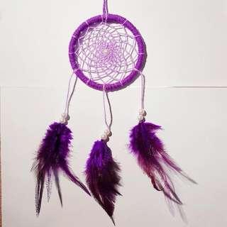 Handmade Beautiful Dreamcatcher In Purple
