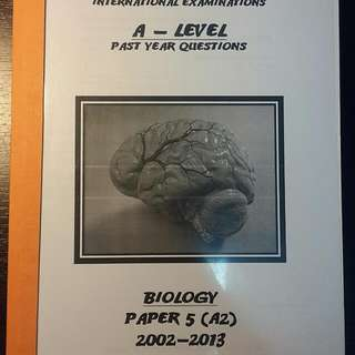 A Level Past Year Questions Biology Paper 5