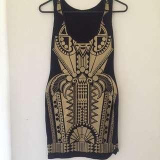 SWITCH -Black & Gold Dress Sz10