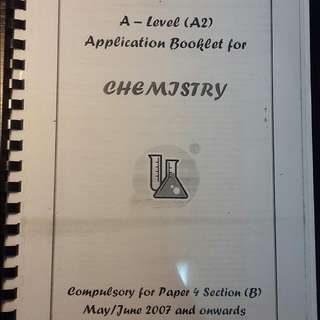 A Level Chemistry Application Booklet
