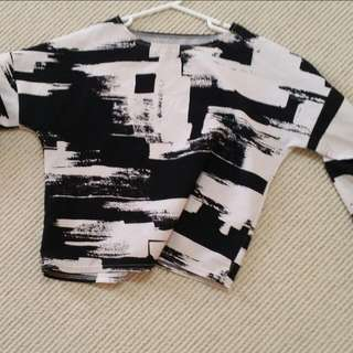 Abstract Crop Shirt