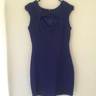 GLAMAZON Blue Dress Sz 8-10