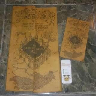 Harry Potter Marauder's Map Handmade (ukuran asli)