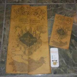 Harry Potter Marauder's Map handmade (mini)