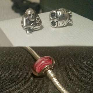 Pandora Silver Charms (Authentic)