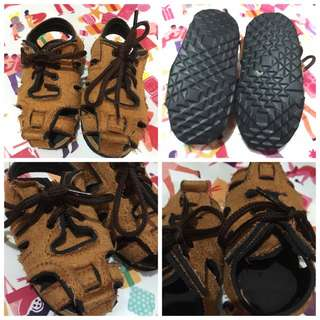 SANDALS 13cm, Brown, Rubber Sole, P50.** only.