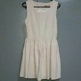 Price Reduced White Embossed Dress