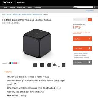 Brand new portable SONY wireless Bluetooth speaker
