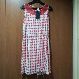 Plains And Prints Orange And Yellow Casual Dress
