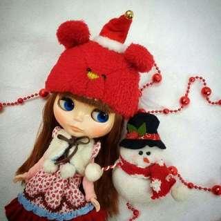 Handmade Bear Hat For Blythe Doll