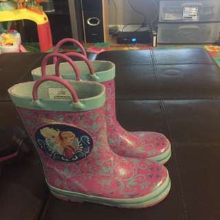 Girls Rain Boots Size 10 And Winter Boots Size 11