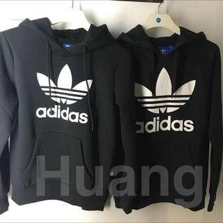 Adidas originals Hoodie 三葉草 帽踢 帽T