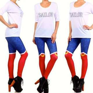 Sailor Moon Boots Leggings +BRAND NEW+ (M) Tights Cosplay Japanese Sailor Scout Kawaii Costume