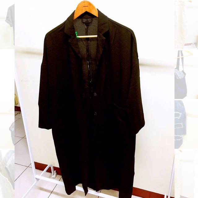 棉麻大衣外套。